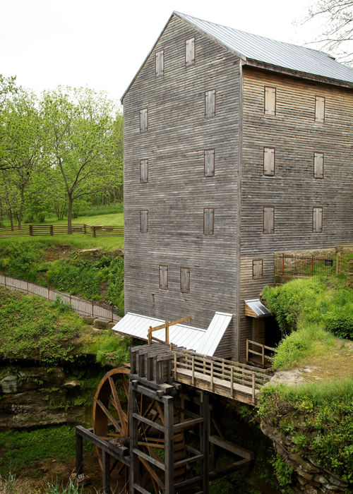 photo of Rockmill Covered Bridge and Mill on sunny day
